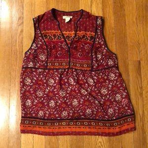 Lucky brand sheer tunic size medium